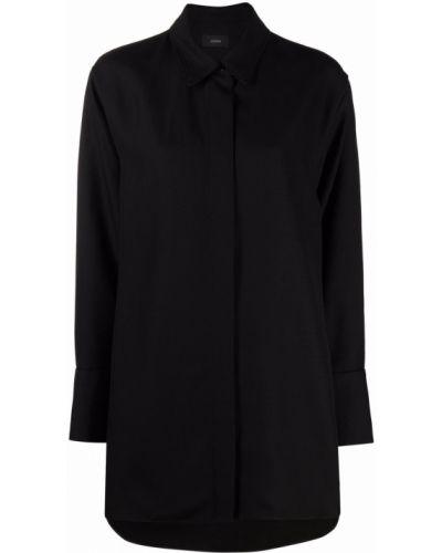 Черная классическая рубашка с воротником на пуговицах Joseph