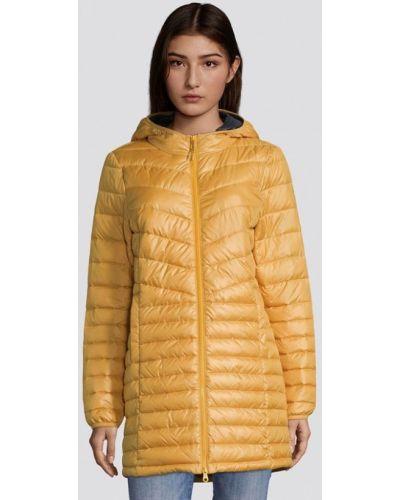 Теплая желтая джинсовая куртка Tom Tailor Denim