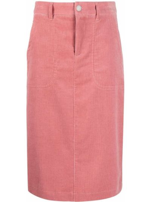 Прямая юбка вельветовая с карманами A.p.c.