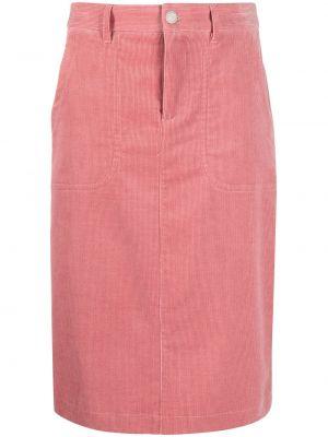 Юбка вельветовая - розовая A.p.c.
