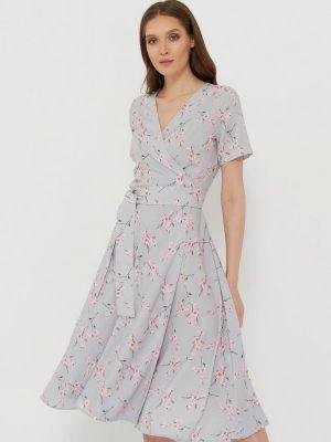 Серое платье с запахом A.karina