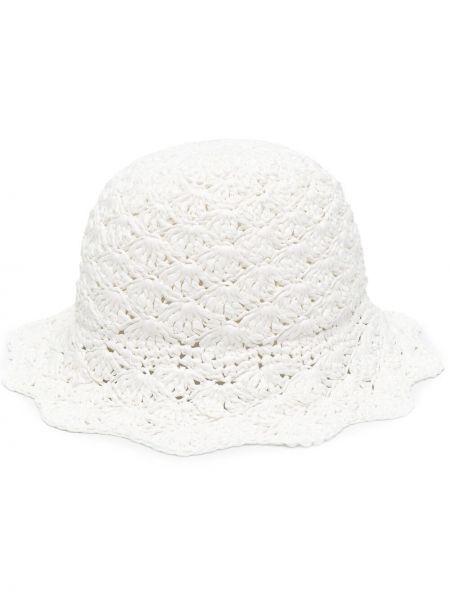 Biały kapelusz z wiskozy Red Valentino