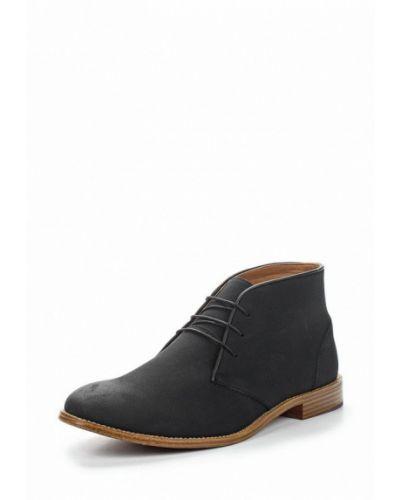 Черные кожаные ботинки Topman