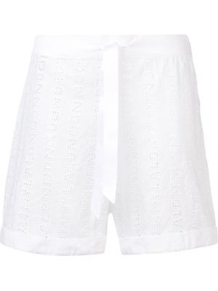 Пижамные белые с завышенной талией шорты Myla