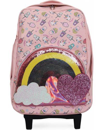 Różowa walizka klamry Omg Accessories