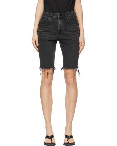 Джинсовые шорты - черные Alexander Wang