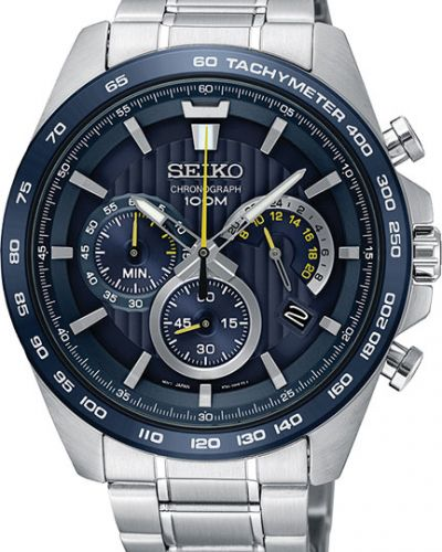 Часы водонепроницаемые спортивные синий Seiko