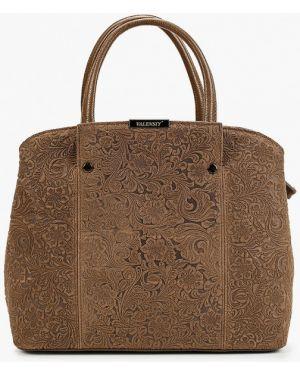 Кожаная сумка с ручками хаки Valensiy