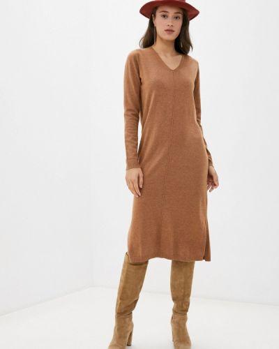 Коричневое вязаное платье Baon