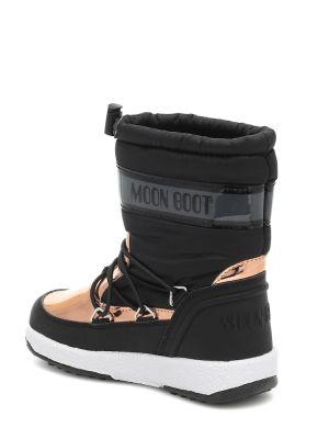 Miękki nylon czarny księżycowe buty Moon Boot Kids