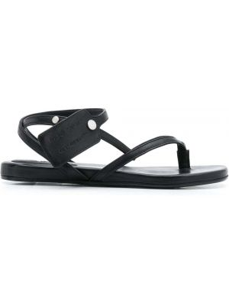 Кожаные сандалии - белые Off-white