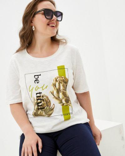Белая футболка с короткими рукавами Samoon By Gerry Weber