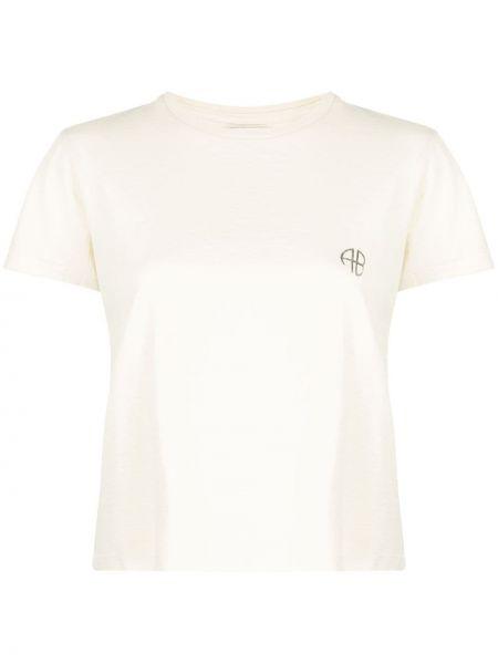 Хлопковая футболка - белая Anine Bing