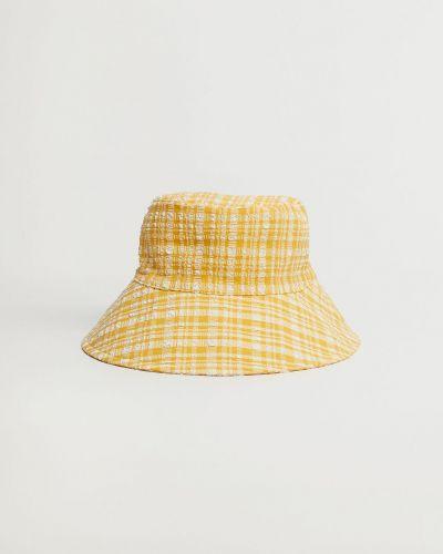 Żółta czapka bawełniana Mango