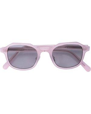 Муслиновые розовые солнцезащитные очки круглые The Celect