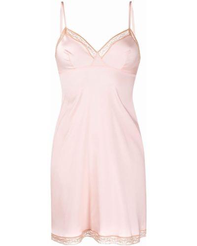 Koszula nocna koronkowa - różowa Eres