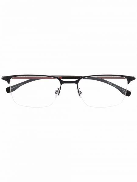 Okulary srebrne - czarne Boss