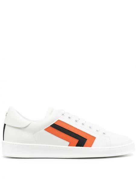 Czarne sneakersy skorzane sznurowane Valextra