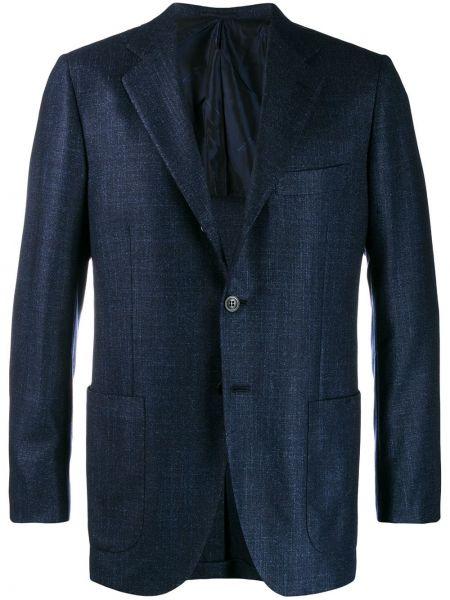 Пиджак с карманами прямой Kiton