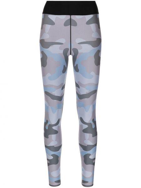 Czarne legginsy z printem z nylonu Ultracor
