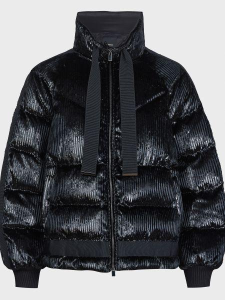 Черная куртка на молнии с подкладкой Pinko