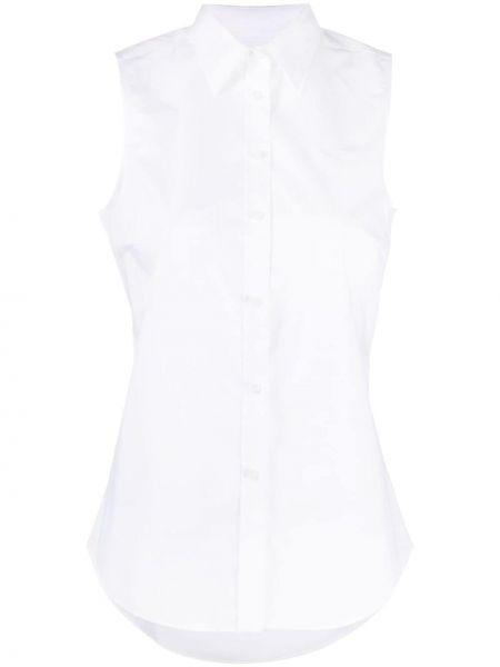 Хлопковая белая классическая рубашка с воротником Lauren Ralph Lauren