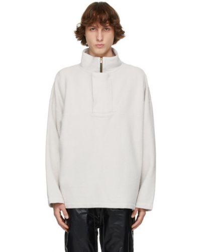 Biały pulower z długimi rękawami bawełniany Fear Of God