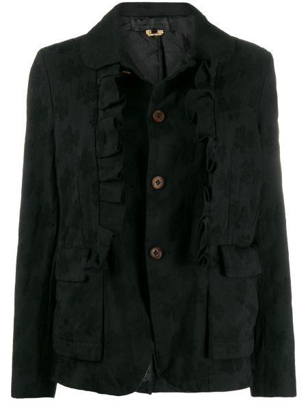 Черная длинная куртка с манжетами Comme Des Garçons Comme Des Garçons