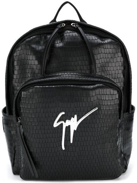 Czarny plecak skórzany Giuseppe Zanotti