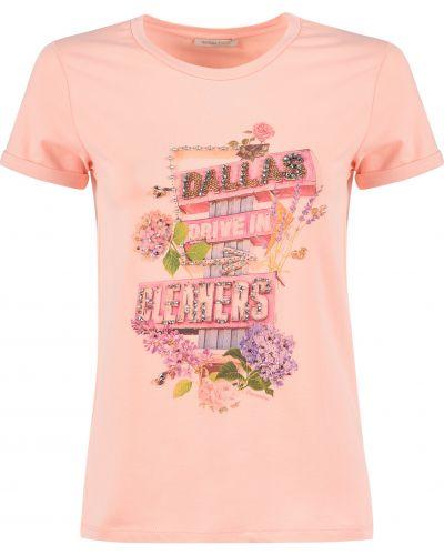 Розовая футбольная футболка Fracomina