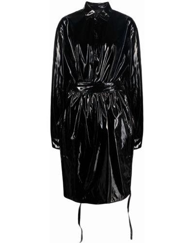 Черное пальто из полиэстера Barbara Bologna