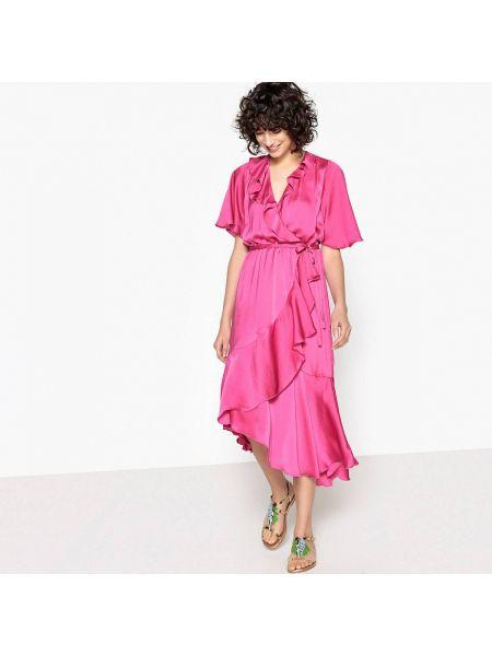 Платье мини миди с запахом La Redoute