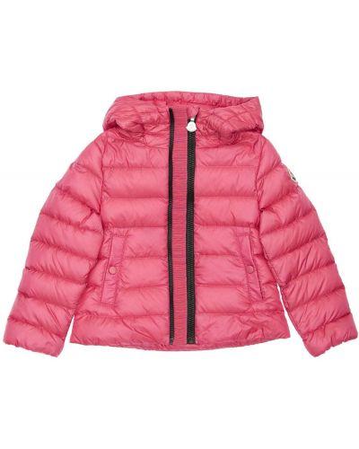 Nylon z rękawami różowy kurtka Moncler