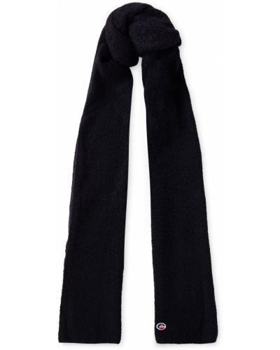 Czarny szalik wełniany Fusalp