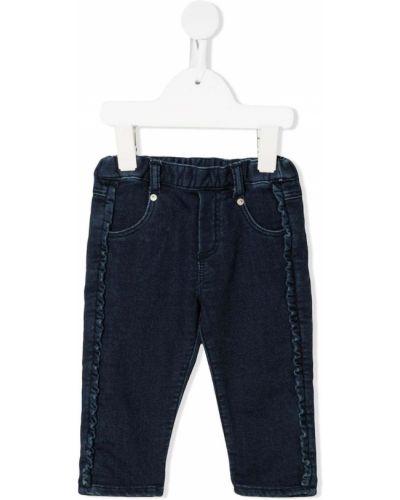Хлопковые синие джинсы с заплатками с карманами Tartine Et Chocolat