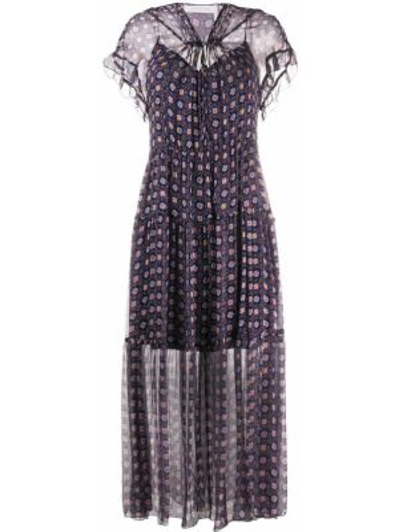 Платье мини макси с V-образным вырезом See By Chloe