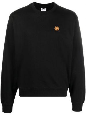 Czarny bawełna z rękawami bawełna bluza Kenzo