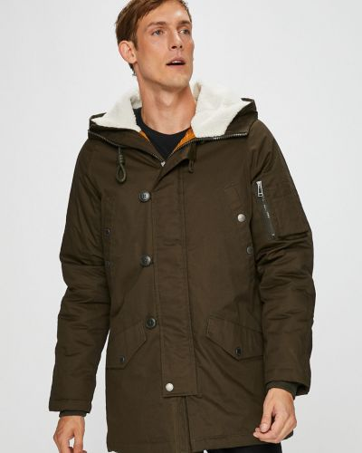 Утепленная куртка с капюшоном милитари Medicine