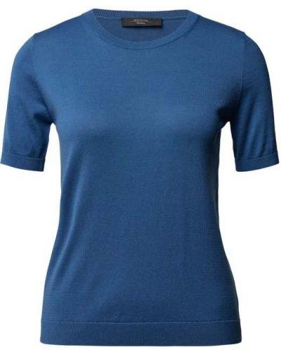 Niebieska koszulka prążkowana Weekend Max Mara