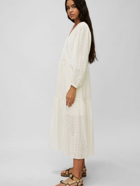 Ажурное джинсовое белое платье макси Marc O'polo Denim