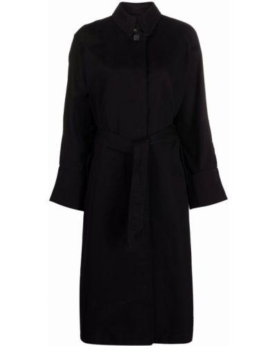 Черное пальто на пуговицах Isabel Marant étoile