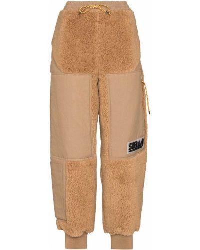 Коричневые брюки с заплатками Stella Mccartney
