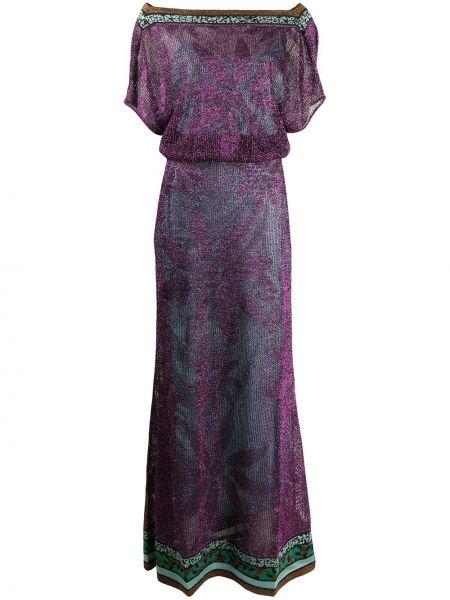 Розовое платье мини с поясом с вырезом Missoni