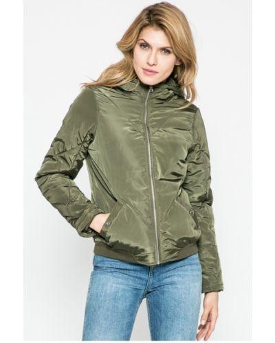 Стеганая куртка утепленная с капюшоном на резинке Noisy May