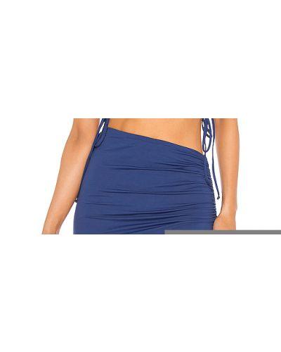 Niebieska spódnica z falbanami na plażę L*space
