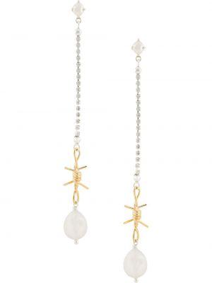 Серебряные серьги-гвоздики с жемчугом Wouters & Hendrix