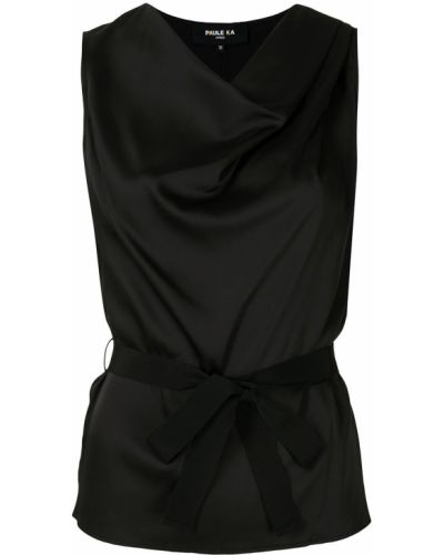 Блузка без рукавов - черная Paule Ka