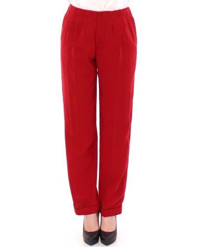 Czerwone spodnie materiałowe Cote