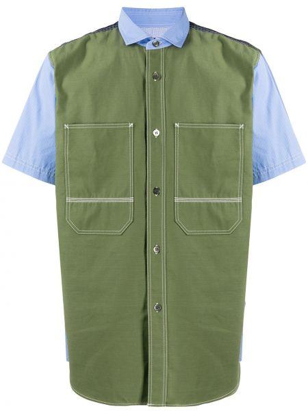 Koszula krótkie z krótkim rękawem z kołnierzem khaki Junya Watanabe Man