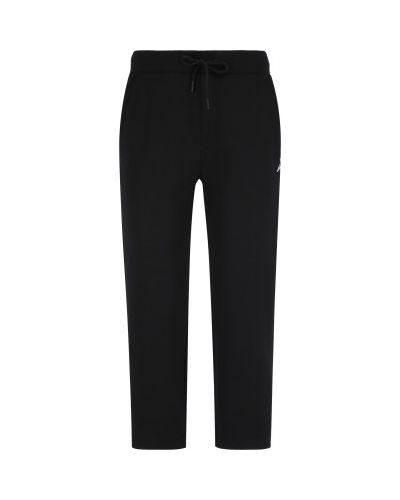Прямые хлопковые черные брюки Demix